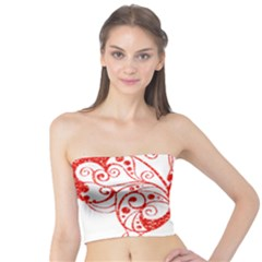 Ruby Butterfly Tube Top