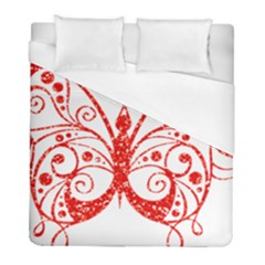 Ruby Butterfly Duvet Cover (Full/ Double Size)