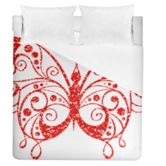 Ruby Butterfly Duvet Cover (Queen Size)