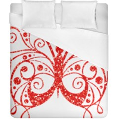 Ruby Butterfly Duvet Cover (California King Size)