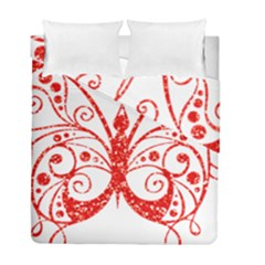 Ruby Butterfly Duvet Cover Double Side (Full/ Double Size)