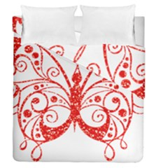 Ruby Butterfly Duvet Cover Double Side (Queen Size)