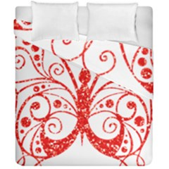 Ruby Butterfly Duvet Cover Double Side (California King Size)