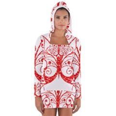 Ruby Butterfly Long Sleeve Hooded T-shirt