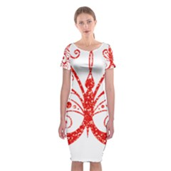 Ruby Butterfly Classic Short Sleeve Midi Dress