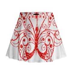 Ruby Butterfly Mini Flare Skirt