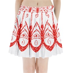 Ruby Butterfly Pleated Mini Skirt