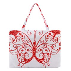 Ruby Butterfly Medium Tote Bag