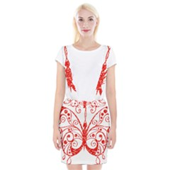Ruby Butterfly Braces Suspender Skirt