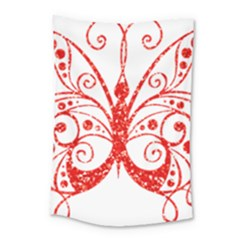 Ruby Butterfly Small Tapestry