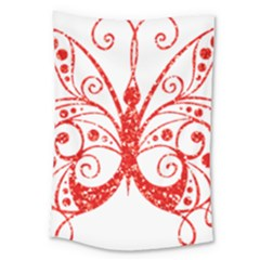 Ruby Butterfly Large Tapestry