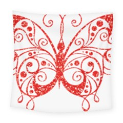 Ruby Butterfly Square Tapestry (Large)