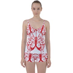 Ruby Butterfly Tie Front Two Piece Tankini