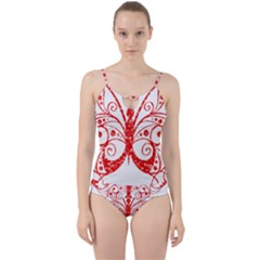 Ruby Butterfly Cut Out Top Tankini Set