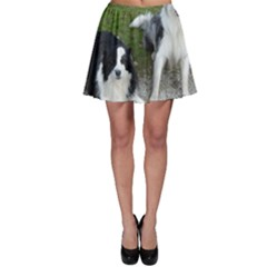 2 Border Collies Skater Skirt