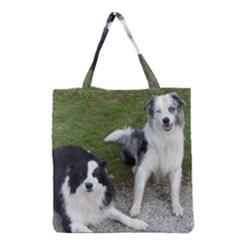 2 Border Collies Grocery Tote Bag