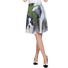 2 Border Collies A-Line Skirt