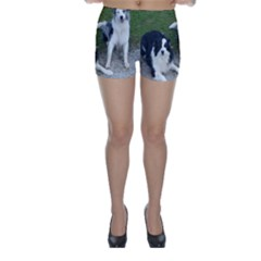 2 Border Collies Skinny Shorts