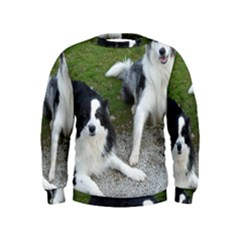 2 Border Collies Kids  Sweatshirt