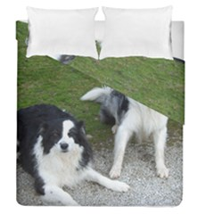 2 Border Collies Duvet Cover Double Side (Queen Size)