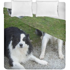 2 Border Collies Duvet Cover Double Side (King Size)