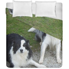2 Border Collies Duvet Cover Double Side (California King Size)