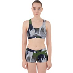 2 Border Collies Work It Out Sports Bra Set