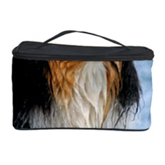 Black Tri Border Collie Wet Cosmetic Storage Case