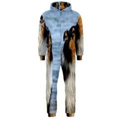 Black Tri Border Collie Wet Hooded Jumpsuit (Men)