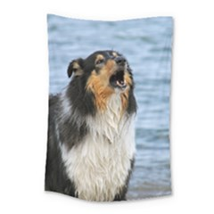 Black Tri Border Collie Wet Small Tapestry