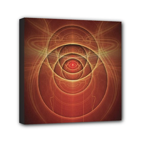 The Rusty Red Fractal Scarab of Fiery Old Man Ra Mini Canvas 6  x 6
