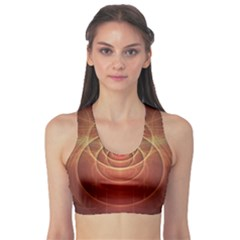 The Rusty Red Fractal Scarab of Fiery Old Man Ra Sports Bra