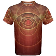 The Rusty Red Fractal Scarab of Fiery Old Man Ra Men s Cotton Tee