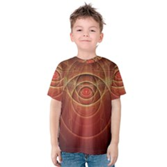 The Rusty Red Fractal Scarab of Fiery Old Man Ra Kids  Cotton Tee