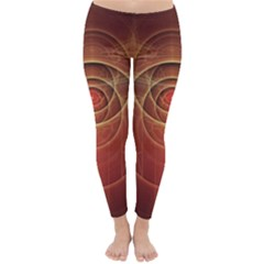 The Rusty Red Fractal Scarab of Fiery Old Man Ra Classic Winter Leggings