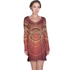 The Rusty Red Fractal Scarab of Fiery Old Man Ra Long Sleeve Nightdress