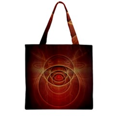 The Rusty Red Fractal Scarab of Fiery Old Man Ra Zipper Grocery Tote Bag