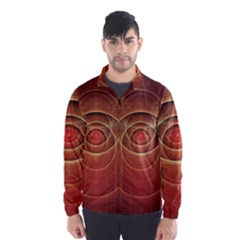 The Rusty Red Fractal Scarab of Fiery Old Man Ra Wind Breaker (Men)