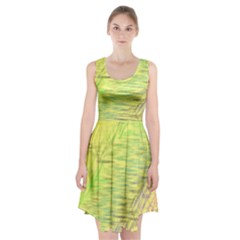 Paint on a yellow background                            Racerback Midi Dress