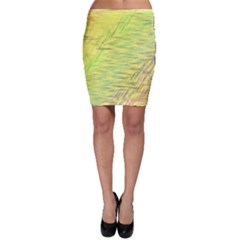 Paint on a yellow background                        Bodycon Skirt