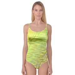 Paint on a yellow background                   Camisole Leotard