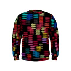 Colorful horizontal paint strokes                          Kid s Sweatshirt