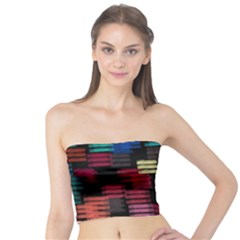 Colorful horizontal paint strokes                    Women s Tube Top