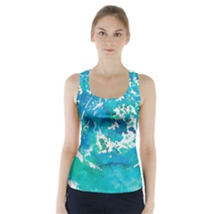 Blue watercolors circle                           Racer Back Sports Top