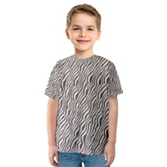 Zebra Pattern Animal Print Kids  Sport Mesh Tee