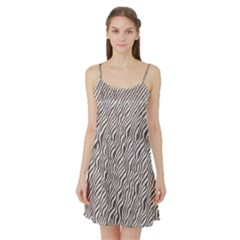 Zebra Pattern Animal Print Satin Night Slip