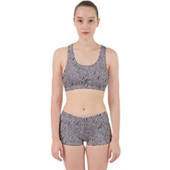 Zebra Pattern Animal Print Work It Out Sports Bra Set