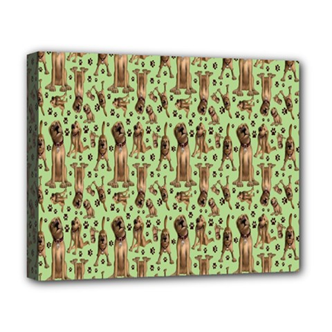 Puppy Dog Pattern Deluxe Canvas 20  X 16