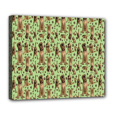 Puppy Dog Pattern Deluxe Canvas 24  x 20