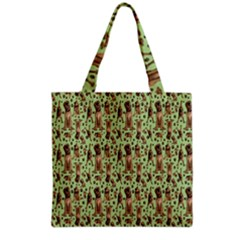 Puppy Dog Pattern Grocery Tote Bag